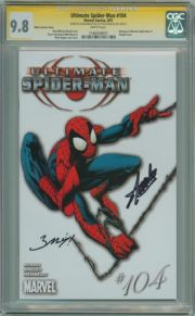 Ultimate Spider-man  #104 White Variant CGC 9.8 Signature Series Signed Stan Lee  Mark Bagley Marvel